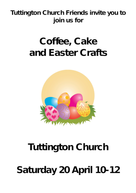 Coffee Cakes And Easter Crafts Tuttington Hub