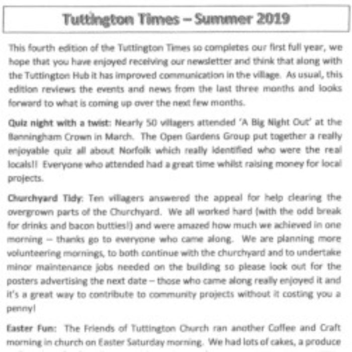 Tuttington Times Summer Edition